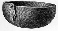 This is a drawing of what the soapstone vessel from Ytre Moa may have looked like. Soapstone vessels have been used for cooking until fairly recent times.
