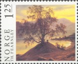 In 1972, Norway Post issued two stamps with painting motifs. One of these shows Fearnley's 'Slindebjørk' from 1839.