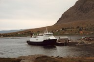 M/F 'Værøy' served the ferry connection Smørhamn-Kjelkenes-Florø and had regular, but few stops at Botnane. The ferry service came to an end in 1993 when the road Sagebø-Botnane was opened for traffic.