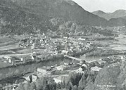 Førde in 1963. Langebrua is in the middle of the picture.