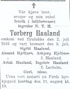 Announcement of the funeral in the local newspaper Firda on 8 August, 1945.