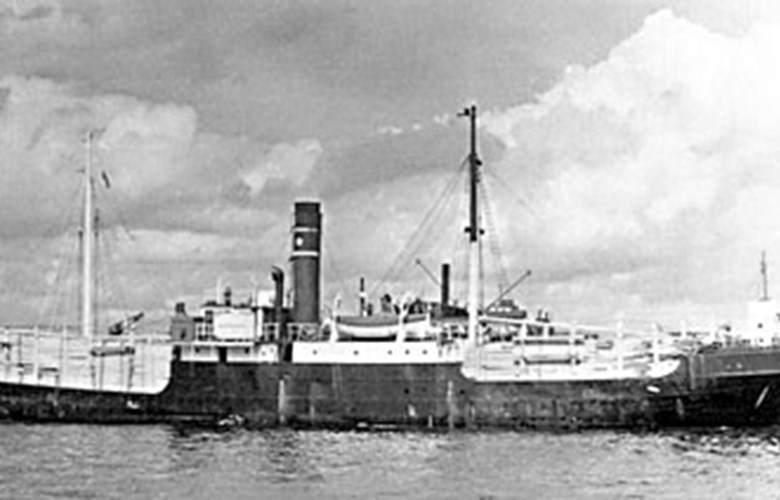 "The steamer ""Galatea"" that Adolf had signed on and which was torpedoed on 21 January 1945 in the Irish Sea when Adolf was hospitalized. Only one man of the 20-men-strong crew was rescued."