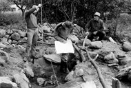 From the excavation at Skaim in 1964. Read more about the excavation in a separate article.