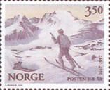 In connection with the anniversary <i>Norway Post 350 years</i> Norway Post issued a series of eight commemorative stamps in 1996. One of these showed <i>Post farmer on skis</i>.