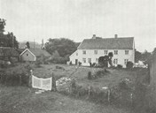 The vicarage yard at Selje as it looked in the 1930s.