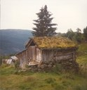 There are now two houses at Steigastølen. This is 'Gamlaselet' in 1985 before it was crushed by snow. 'Nyaselet' was built in 1940.