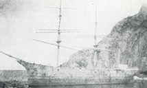 "On Sunday 6 January 1918, at about eight in the evening, the Swedish barque ""Olga"" ran aground at the Kvannhovden lighthouse. Captain Nils Halberg managed to manoeuvre the ship into the bay of Søre Kvannhovdevika where the ship stranded. The crew managed to get ashore and was helped by the lighthouse keeper who led them up to the lighthouse station. The ship was wrecked."